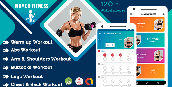 Female fitness - Women workout lose weight with admob ready to publish