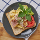Bacon and egg on the toasted bread - PhotoDune Item for Sale