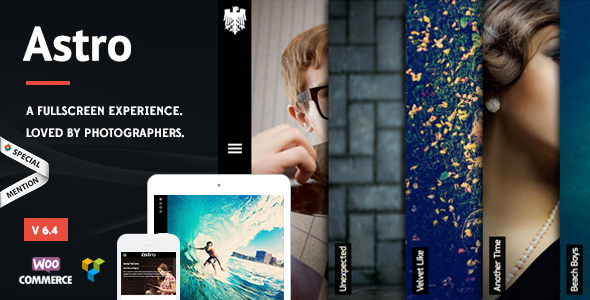 Astro - Photography WordPress Theme