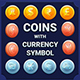Coins with Currency Symbols
