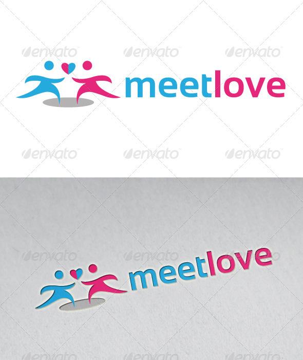 Meeting Love Logo - Humans Logo Templates