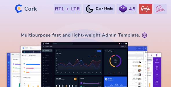 Exceptional Cork - Responsive Admin Dashboard Template