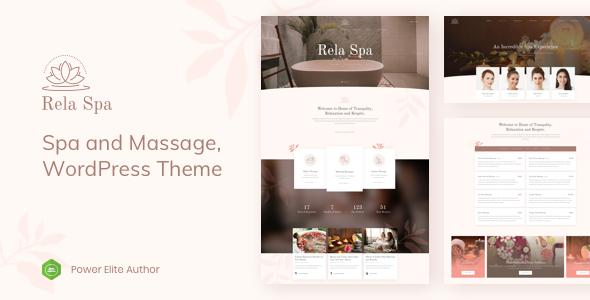 Rela Spa - Massage Salon WordPress