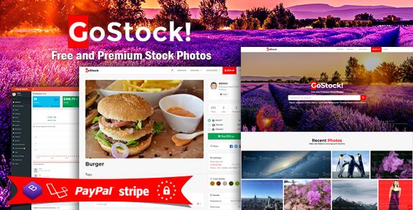 GoStock - Free and Premium Stock Photos Script