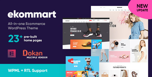 Extraordinary ekommart - All-in-one eCommerce WordPress Theme