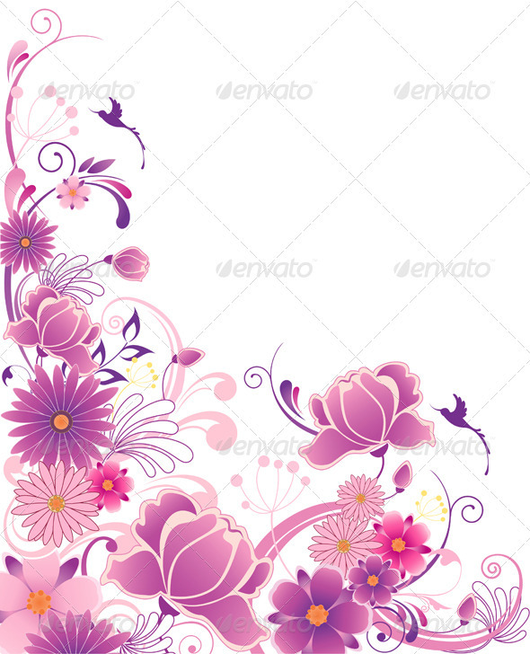 Violet Floral Background  - Flowers & Plants Nature