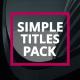 Minimal Stylish Titles - VideoHive Item for Sale