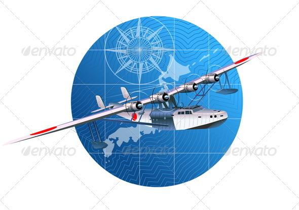 Retro Hydroplane - Travel Conceptual