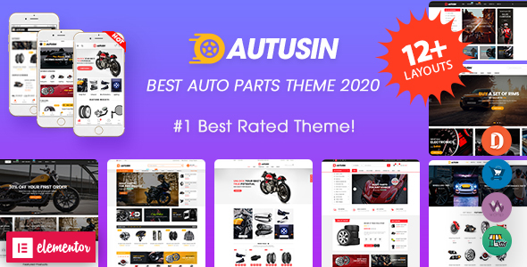 Autusin - Auto Parts & Car Accessories Shop Elementor WooCommerce WordPress Theme