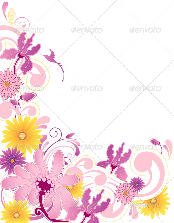 Floral Background with Pink Flower - Flowers & Plants Nature