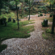Gravel path with concentric patterns at a zen rock garden. - PhotoDune Item for Sale