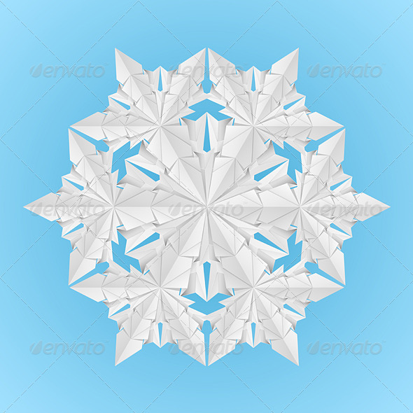 White paper snowflake - Abstract Conceptual