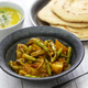 Sengri aloo ki sabzi, simmered radish pods & potatoes with spices, indian cuisine - PhotoDune Item for Sale