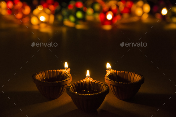 Beautiful Diwali Diya - Stock Photo - Images