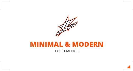 Minimal and Modern Menu Collection