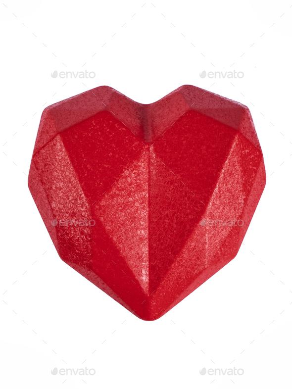 Heart on white background - Stock Photo - Images