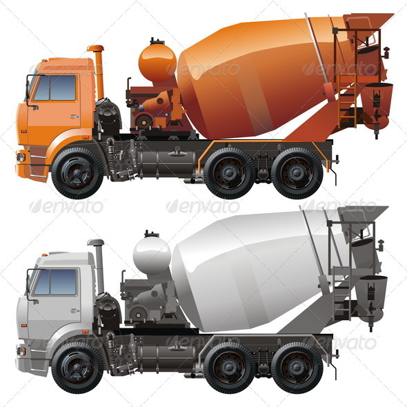Cement Truck - Man-made Objects Objects