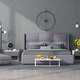 Minimalist master bedroom with lilac furniture - PhotoDune Item for Sale