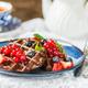 Chocolate Belgium Waffles with Berries - PhotoDune Item for Sale