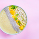 Mango, Banana, Pineapple and Oatmeal Smoothie in the Bowl - PhotoDune Item for Sale