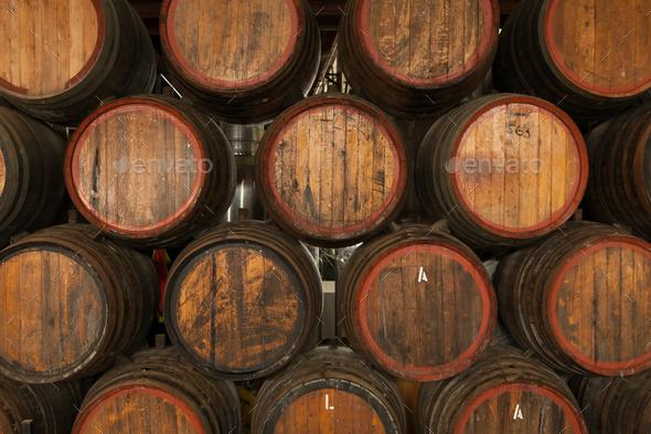 Rutherglen Wine Barrels - Stock Photo - Images