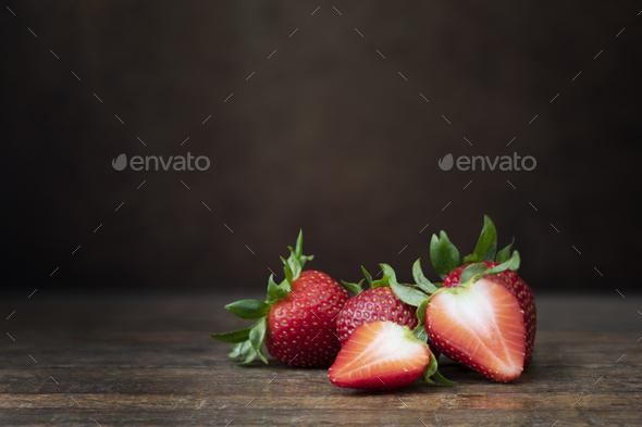Fresh Ripe Strawberries Still Life - Stock Photo - Images