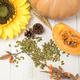 Autumn harvest time, fresh pumpkin and chestnut - PhotoDune Item for Sale