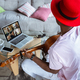 African-american musician playing guitar during concert at home isolated and quarantined, impressive - PhotoDune Item for Sale