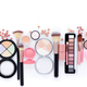 Makeup brushes and decorative cosmetics on a white background with copy space. Top view - PhotoDune Item for Sale