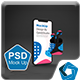 Dark Phone 11 & Pods Mouckup
