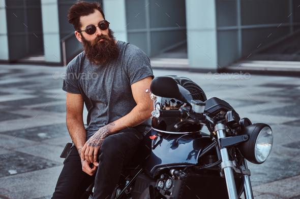 Bearded Biker t-shirt