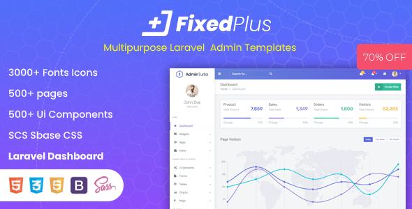 FixedPlus - Multipurpose Laravel Admin Templates