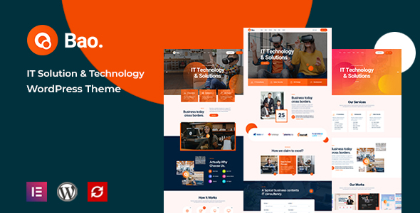 Download Bao – IT Solutions & Services WordPress Theme Free Nulled