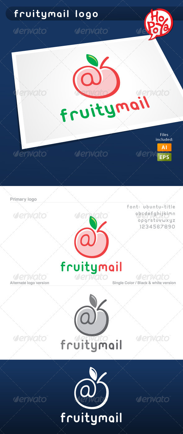 Fruitymail Logo - Symbols Logo Templates