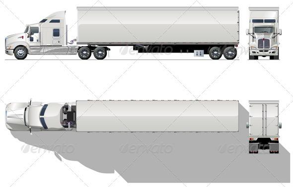 Semi-truck - Man-made Objects Objects