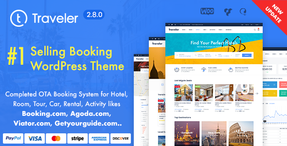Excellent Travel Booking WordPress Theme