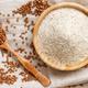 Buckwheat flour in a bowl buckwheat grain - PhotoDune Item for Sale