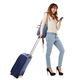 Full body travel woman walking and looking at mobile phone - PhotoDune Item for Sale
