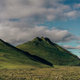 beautiful landscape with green hills in Iceland - PhotoDune Item for Sale