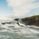 beautiful waterfall landscape with flowing river in Iceland - PhotoDune Item for Sale