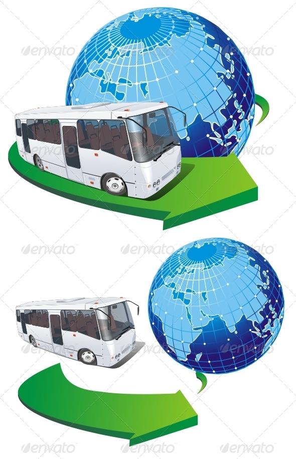 Tourist Bus - Travel Conceptual
