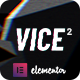 Vice: Underground Music Elementor WordPress Theme