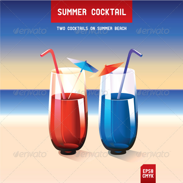 Summer Cocktail - Food Objects