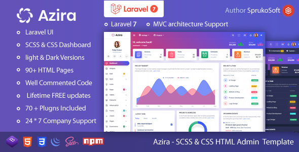 Azira – PHP Laravel Admin Template