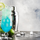 Blue Hawaiian or Blue Lagoon alcoholic cocktail with vodka, liqueur, tonic, pineapple juice and ice - PhotoDune Item for Sale