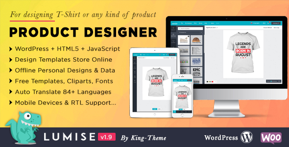 Product Designer for WooCommerce WordPress   Lumise Nulled