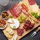 Cheese, meat, grapes and olives antipasto - PhotoDune Item for Sale