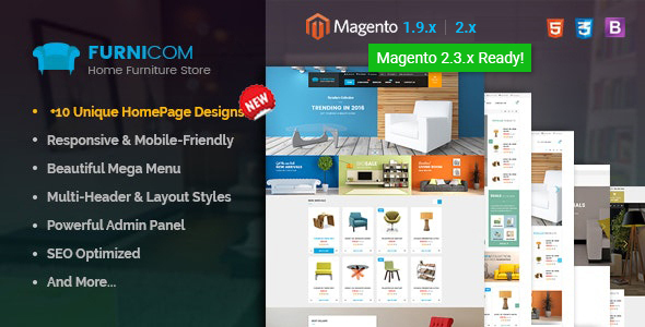 Furnicom – Responsive Magento 2 and 1.9 Furniture Theme