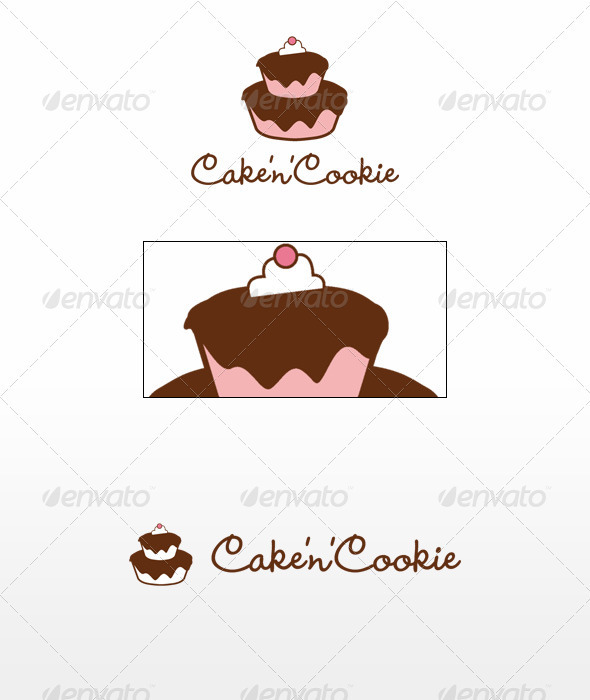 Cake'n'Cookie - Food Logo Templates