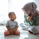 muslim mother and son having conversation - PhotoDune Item for Sale